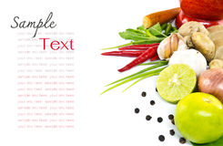 Herb And Spicy Ingredients Food Stock Photography