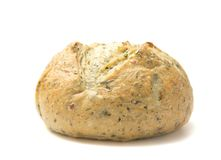 Herb Artisan Bread. On a White Background royalty free stock photo
