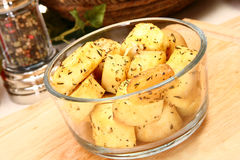 Herb Baked Parsnips Stock Photos