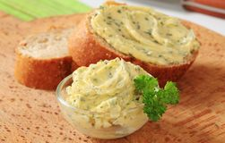 Herb butter Stock Photos