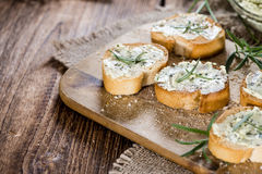 Herb Butter Baguette Stock Images
