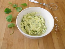 Herb butter in bowl Royalty Free Stock Image