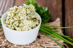 Herb Butter in a bowl Stock Photography