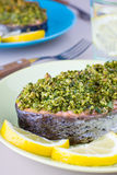 Herb crusted fish Royalty Free Stock Photos