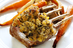 Herb Crusted Lamb Royalty Free Stock Photo