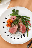 Herb Crusted Lamb Chops images stock