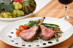 Herb Crusted Lamb Chops Royalty Free Stock Photos