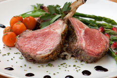 Herb Crusted Lamb Chops Stock Photo