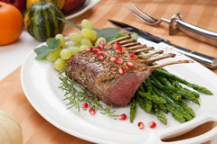 Herb Crusted Rack of Lamb Royalty Free Stock Image