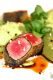 Herb encrusted ahi tuna (close up) Stock Photo