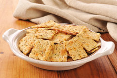 Herb flavored crackers Royalty Free Stock Photography