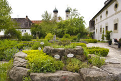 Herb garden in abbey Royalty Free Stock Image