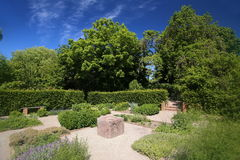 Herb garden in Trelleborg in southern Sweden Stock Photography