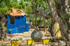 Herb garden  and old slave hut Curacao Views Royalty Free Stock Photo
