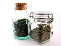 Herb Jars Stock Photo