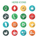 Herb long shadow icons Stock Photo