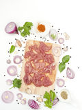 Herb marinated pork with sesame asian food style Royalty Free Stock Photography
