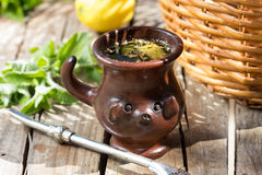 Herb mate - traditional tea in Latin America. Royalty Free Stock Images