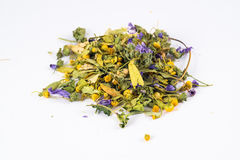 Herb mix in white background Stock Photography