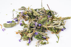 Herb mix in white background Stock Images