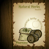 herb naturalnych royalty ilustracja