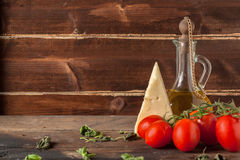 Free Herb, Oil, Tomatoes And Cheese Royalty Free Stock Images - 29895449