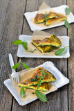 Herb omelette royalty free stock image