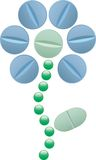 Herb pills Royalty Free Stock Photo