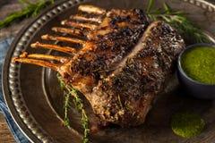 Herb Roast Lamb caseiro foto de stock