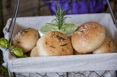 Herb Rolls With Herb Butter Royalty Free Stock Images