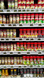 Herb Spice. Assorted herb and spice at supermarket shelves royalty free stock photography