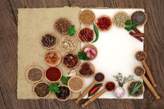 Herb and Spice Assortment Royalty Free Stock Photo