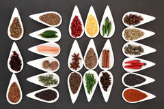 Herb and Spice Collection Stock Photo