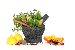 Herb, Spice and Fruit Selection Royalty Free Stock Images