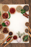 Herb and Spice Ingredients Stock Image