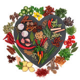 Herb and Spice Ingredients Royalty Free Stock Image