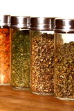 Herb and spice jars Stock Image