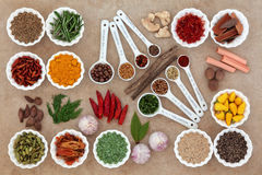 Herb and Spice Measurement Royalty Free Stock Image