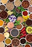 Herb Spice och ätligt blommaval Arkivfoton