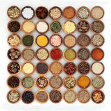 Herb and Spice Seasoning Sampler Royalty Free Stock Photo