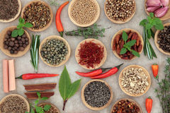 Herb and Spice Selection Stock Images