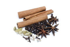 Herb of spices. Isolated in white background Royalty Free Stock Photos
