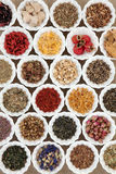 Herb Tea Sampler Stockbilder