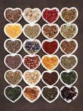Herb Tea Sampler Stock Photo