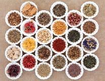 Herb Tea Sampler Royalty Free Stock Images