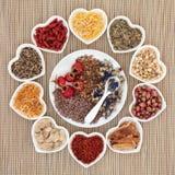 Herb Tea Selection stock afbeeldingen