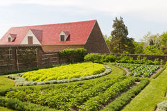 Herb vegetable and fruit garden. Herb, vegetable and fruit garden, Mt. Vernon, Virginia Royalty Free Stock Image