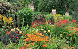 Herbaceous Border Stock Photo