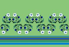 Herbaceous border with white and blue flowers and strips. Stock Image