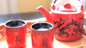 Herbaciana ceremonia, chińczyk zdjęcie wideo
